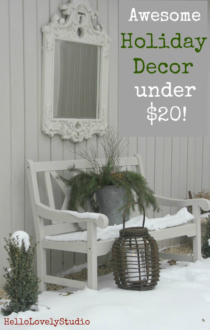Awesome holiday decor under $20. Hello Lovely Studio. #holidaydecor #christmasdecorating #lowcostholiday