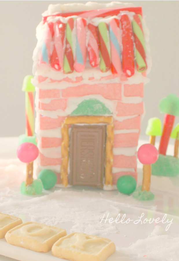 Gingerbread House Ideas & Inspiration. #hellolovelystudio #christmasdecor #gingerbreadhouse #pinkchristmas