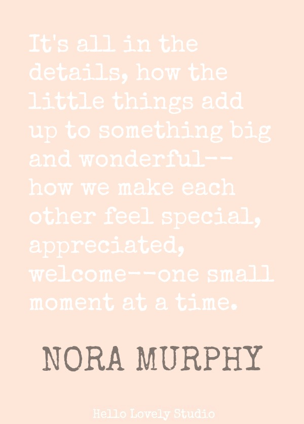 Nora Murphy quote about country style. #noramurphy #quote #countrydesign #countrystyle #countryliving