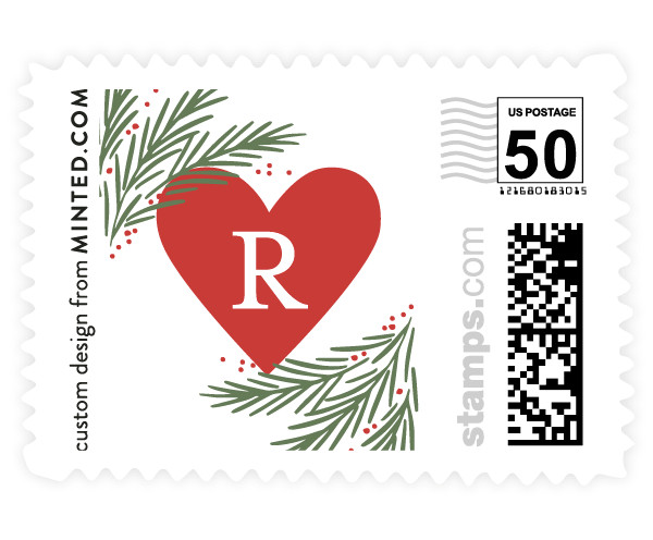 Rejoice Heart Holiday stamps from Minted.