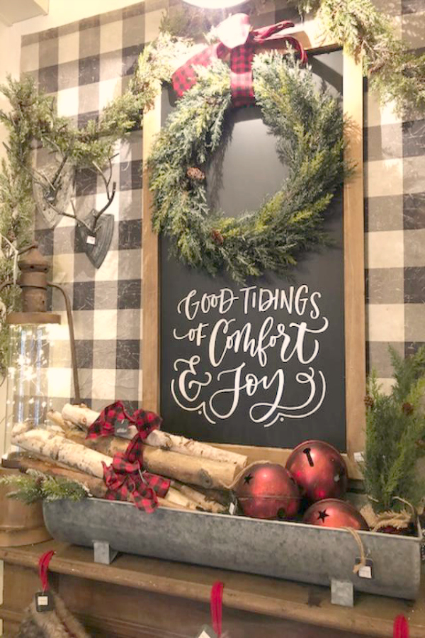 Farmhouse Christmas decor ideas and inspiration from Urban Farmgirl on Hello Lovely Studio. #hellolovelystudio #farmhousechristmas #christmasdecor #simplechristmas #countrychristmas