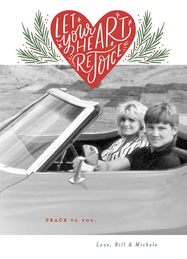 "Christmas card ""Rejoice Heart"" from Minted. Hello Lovely Studio. COME BE INSPIRED by 7 Christmas Card Photo Hacks!"