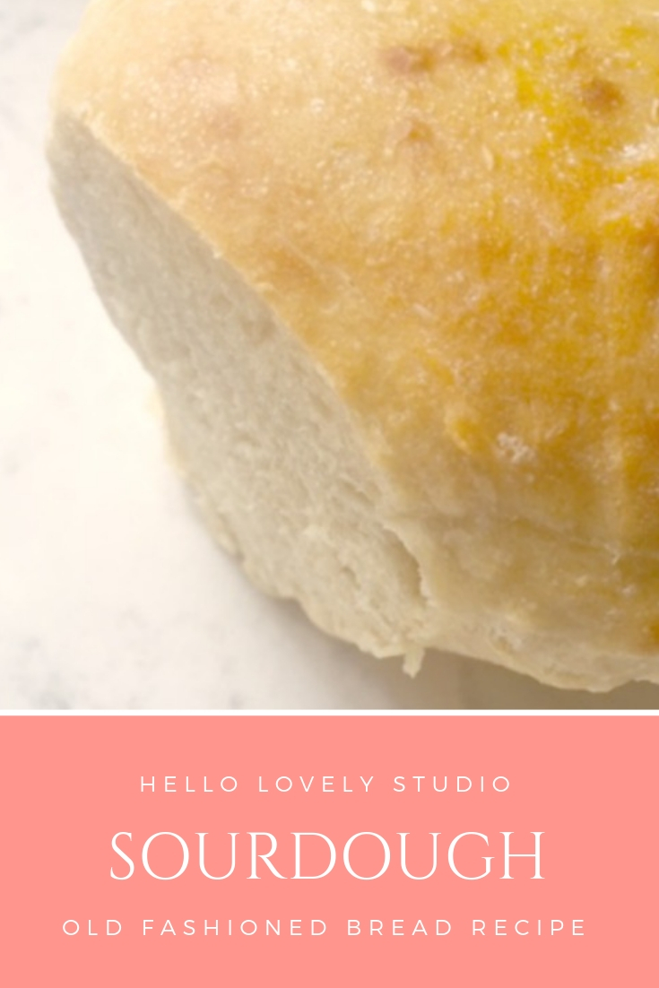 Hello Lovely Studio sourdough old fashioned bread recipe. #hellolovelystudio #sourdough #bread #recipe