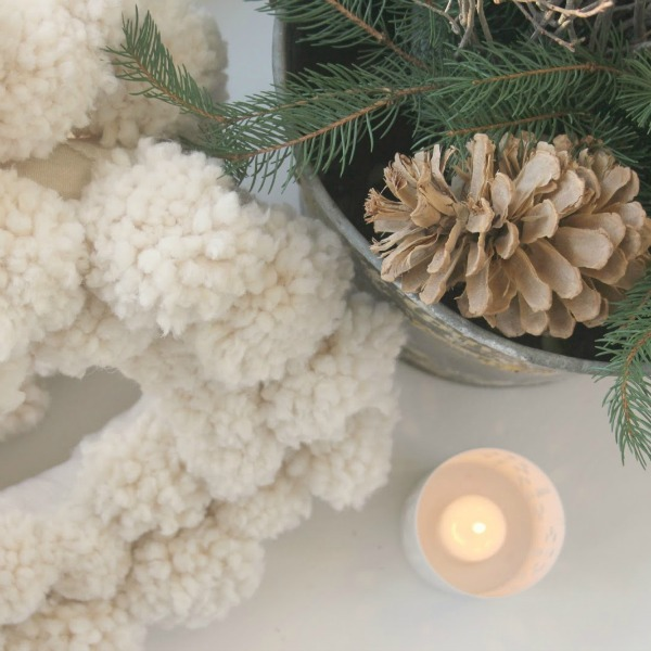 Tranquil and Hushed Thanksgiving Mood. Hello Lovely Studio. Neutral holiday decor and white Christmas decorating featuring a mix of vintage, new, and handmade.