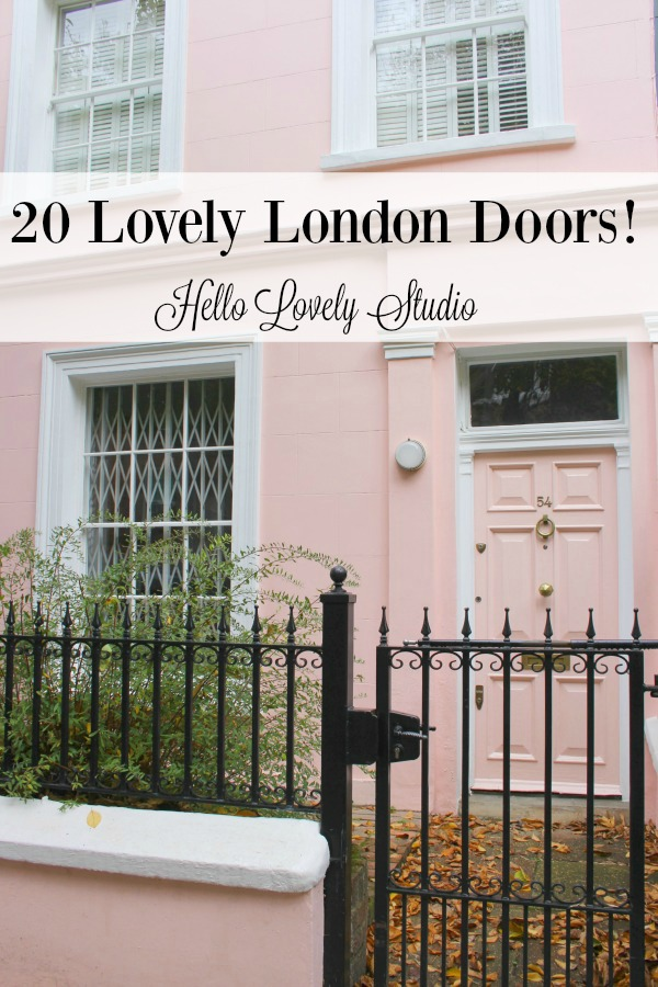 20 Lovely London Doors by Hello Lovely Studio.