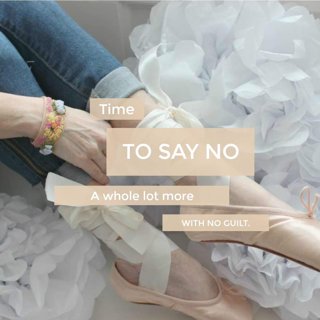 Inspiring New Year's quote by Hello Lovely Studio: Time to say no a whole lot more with no guilt. #resolution #newyear #hellolovelystudio