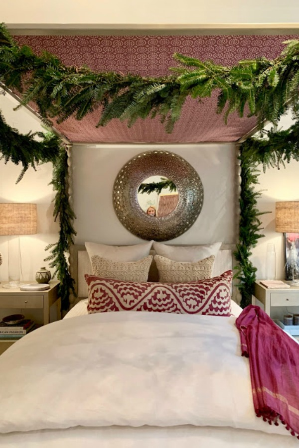 Bedroom in 2018 Atlanta Holiday Showhouse.