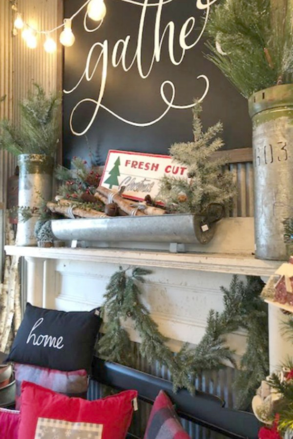Farmhouse Christmas decor inspiration from Urban Farmgirl shop. Photo: Hello Lovely Studio. Rustic, country Christmas decorating ideas and holiday gifts for farmhouse Christmas lovers. #hellolovelystudio #farmhousechristmas #christmasdecor