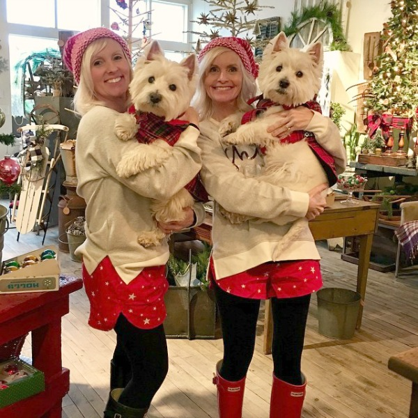 Shopping for vintage holiday decor at Trove Vintage with shop dogs Westies Angus & Alistair - Hello Lovely Studio.