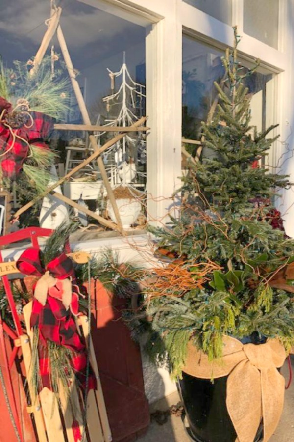Vintage Christmas decorating ideas and inspiration from the magical shop, Trove. Hello Lovely Studio. #hellolovelystudio #christmasdecor #countrychristmas #vintagechristmas #farmhousechristmas