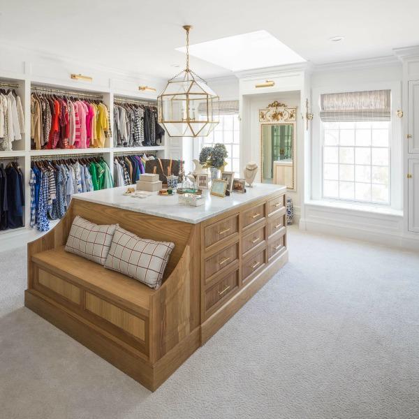 A luxurious dream closet with center island - The Fox Group.