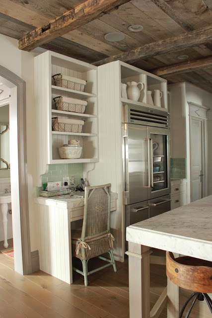 Gustavian French farmhouse kitchen style in a Utah home by Decor de Provence.