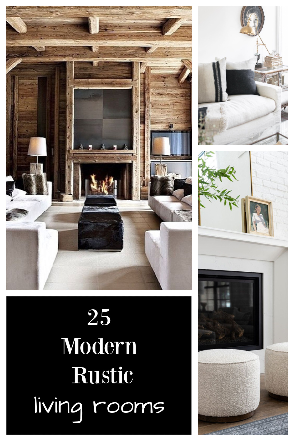 25 Modern Rustic Living Rooms - come be inspired by these gorgeous interiors on Hello Lovely. #modernrustic #livingrooms #interiordesign #getthelook