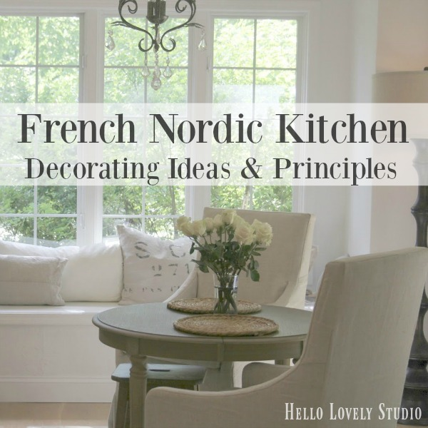 French Nordic Kitchen Decorating Ideas & Principles by Hello Lovely Studio explores the design style, underpinnings, and expression of this beautiful blend of French Country and Scandinavian country style. #hellolovelystudio #frenchnordic #frenchfarmhouse #swedishstyle #kitchendesign #europeancountry #interiordesign