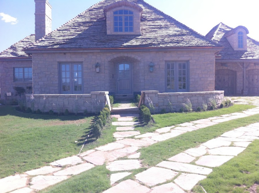 Stone exterior. Breathtaking French cottage in Utah by Desiree Ashworth of Decor de Provence. French country interior design inspiration awaits in this house tour with rustic decor, Gustavian influences, and European country charm! #frenchcottage #frenchcountry #interiordesign