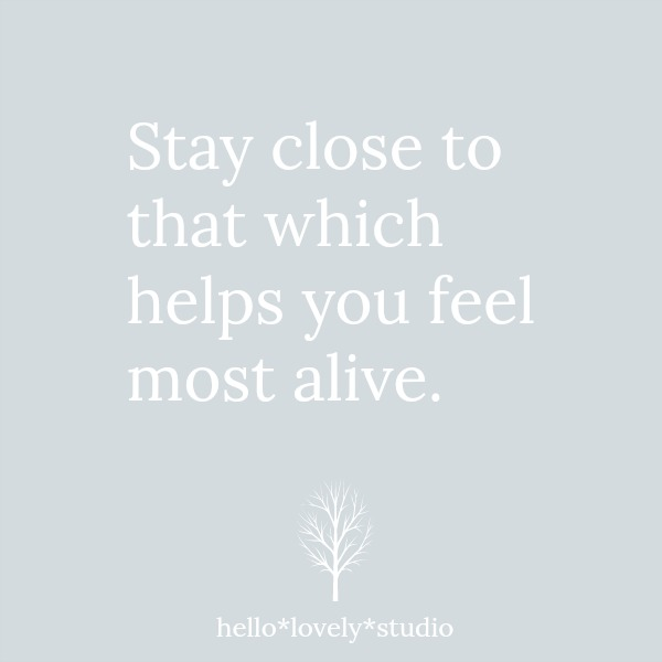 Encouraging quote - Hello Lovely Studio.