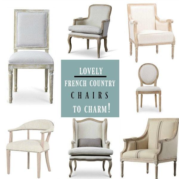 Lovely French Country Chairs to Charm on Hello Lovely Studio.