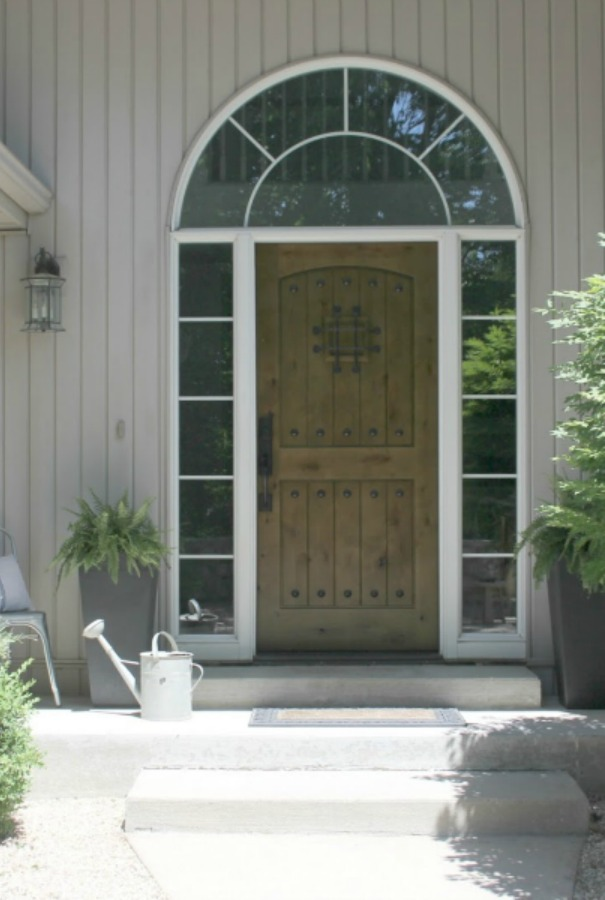 My rustic alder front door - Hello Lovely Studio. Rustic Old World Style Wood Doors: Photos & Ideas.