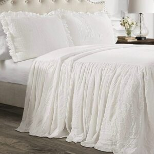 White Ruffle Spread + Shams