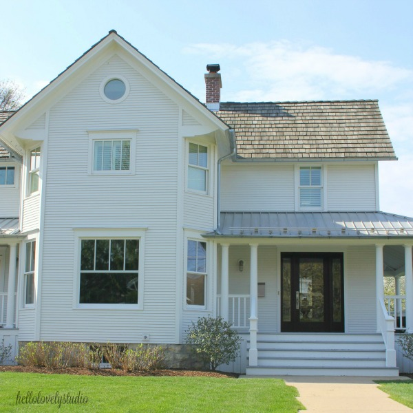 Restored 1875 modern farmhouse in Barrington, Illinois. Hello Lovely studio.