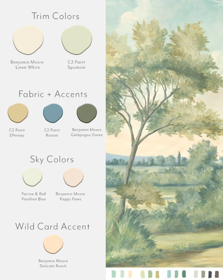 Aldworth Natural color card from Susan Carter Muralpapers.