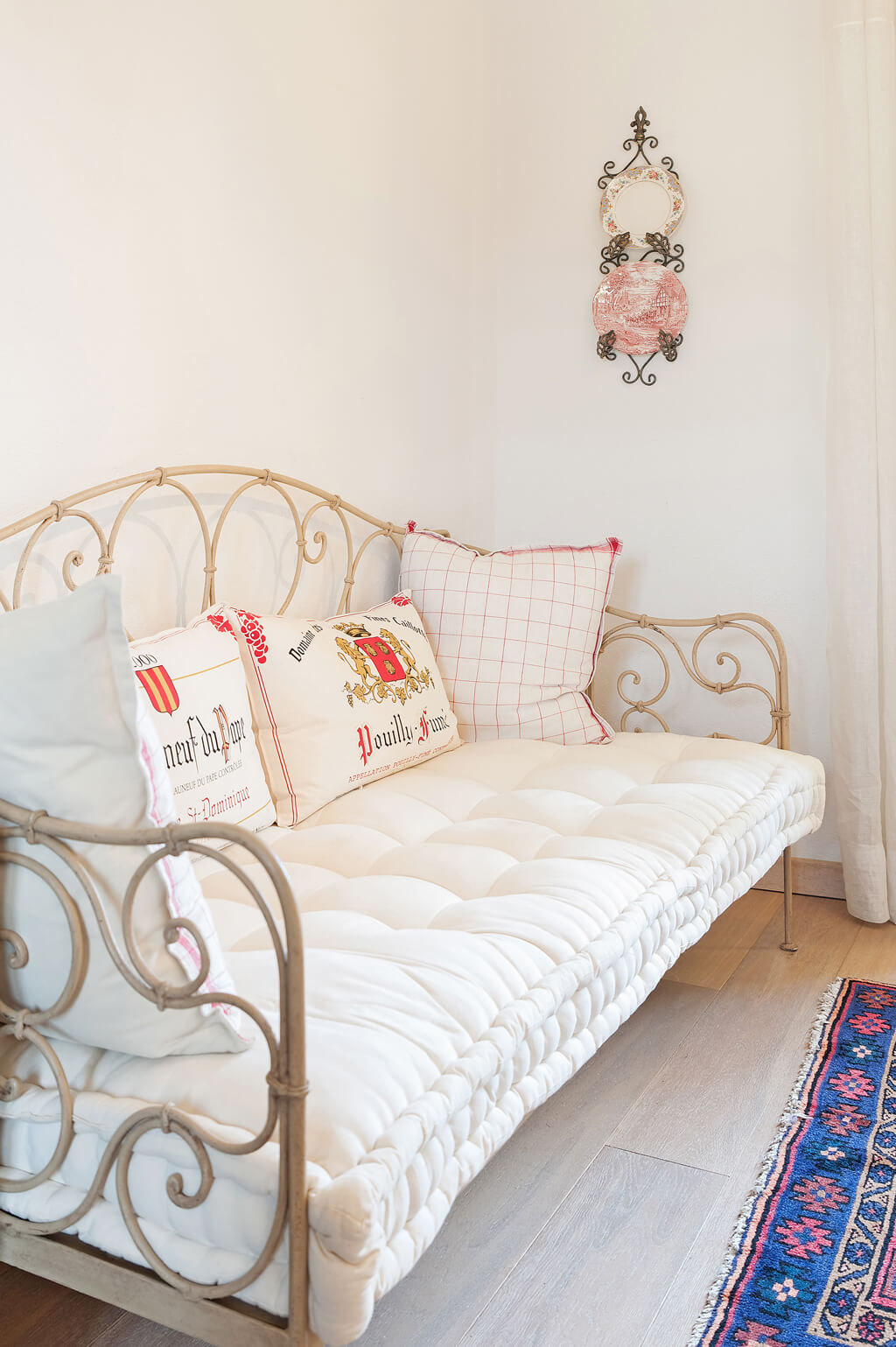 French daybed in a lovely Provence farmhouse.
