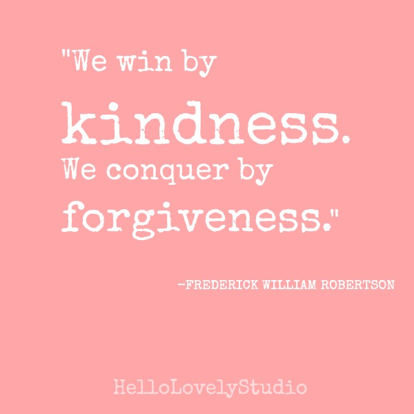 Inspirational quote about kindness on Hello Lovely Studio by Frederick William Robertson.