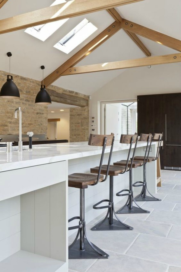 Bespoke kitchen with urban rustic style in Cotswolds by Artichoke.