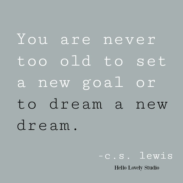 C. S. Lewis quote on Hello Lovely Studio. #goals #dreams #inspiringquote #cslewis