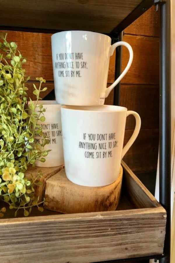 If you don't have anything nice to say, come sit by me. American farmhouse decorating ideas, rustic country decor, and inspiration from Urban Farmgirl. #farmhousestyle #americanfarmhouse