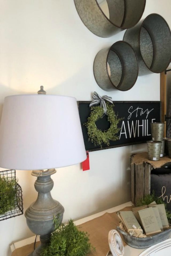 Farmhouse decor at Urban Farmgirl.