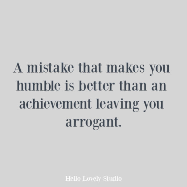 Inspirational quote on Hello Lovely Studio about mistakes. #inspirationalquotes #quotes