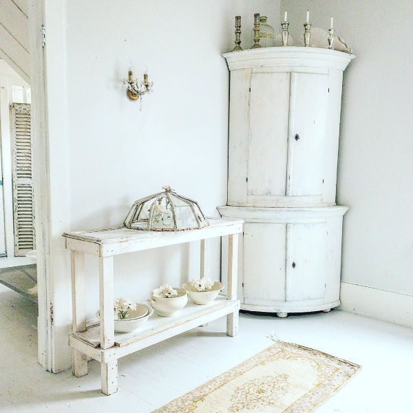 Swedish white decor and Nordic French style by My Petite Maison. #frenchnordic #nordic #swedish #interiordesign #decorating #allwhitedecor