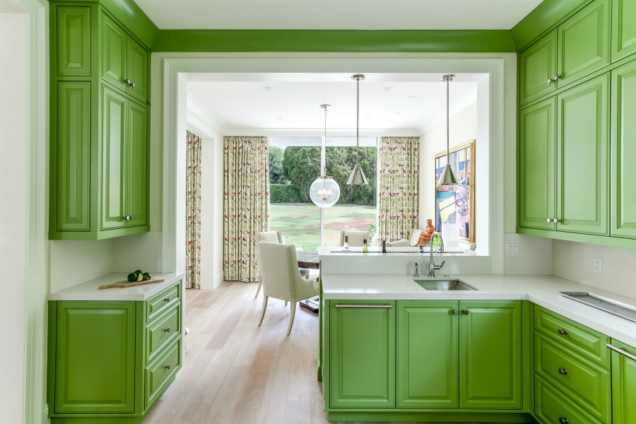 Brilliant spring green kitchen design by Tom Stringer.