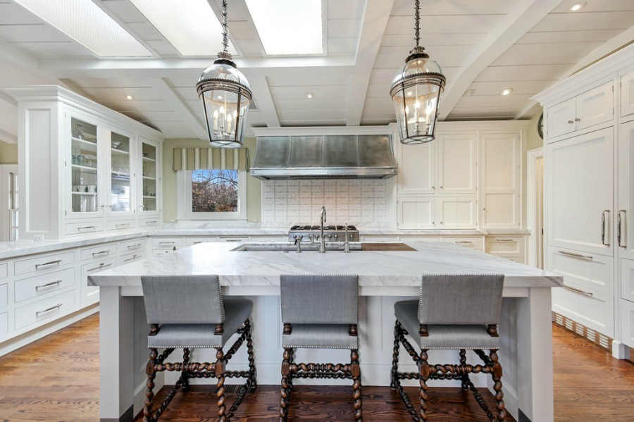 Classic white kitchen. Realistic Country French Decor from Luxurious Ideas...certainly lovely indeed. Decorating ideas for French country style rooms as well as shopping resources.