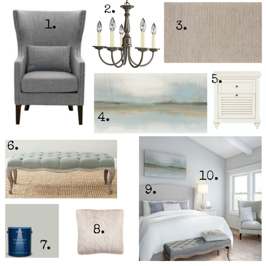 Timeless and Tranquil Bedroom Decor and Furniture Finds for a French inspired design!. Get the look on Hello Lovely Studio!