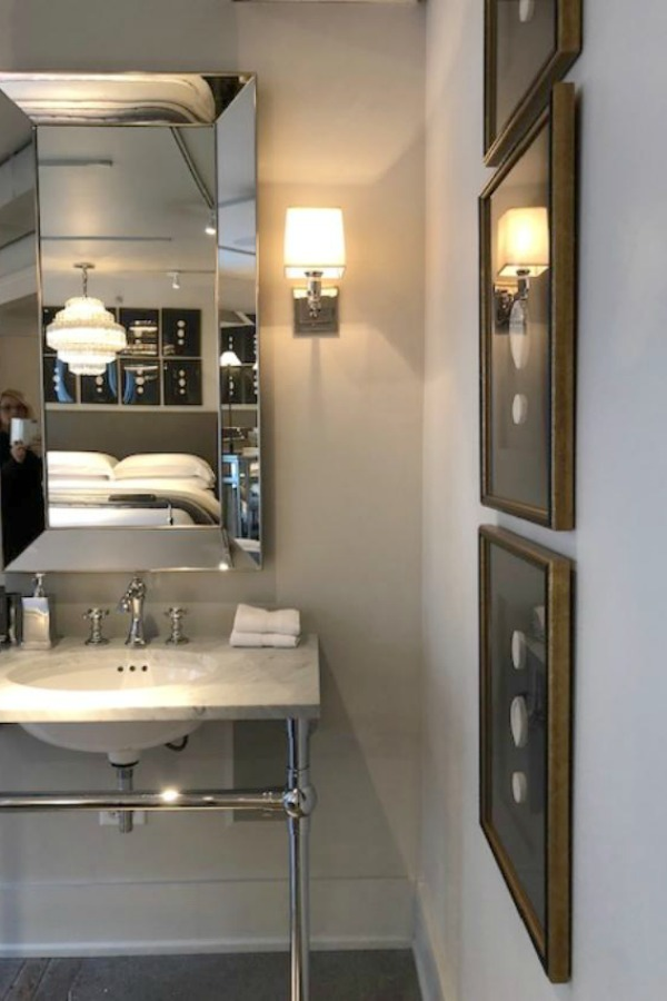 RH bathroom with console sink - Hello Lovely Studio.