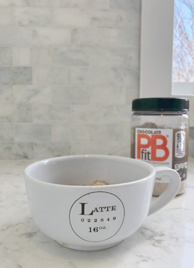 Chocolate PB Fit is a starring ingredient in my Chocolate Minute Mug Cake - Hello Lovely Studio.