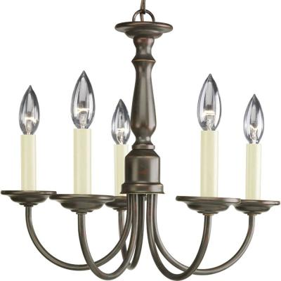 5-Light Antique Bronze Chandelier from The Home Depot.