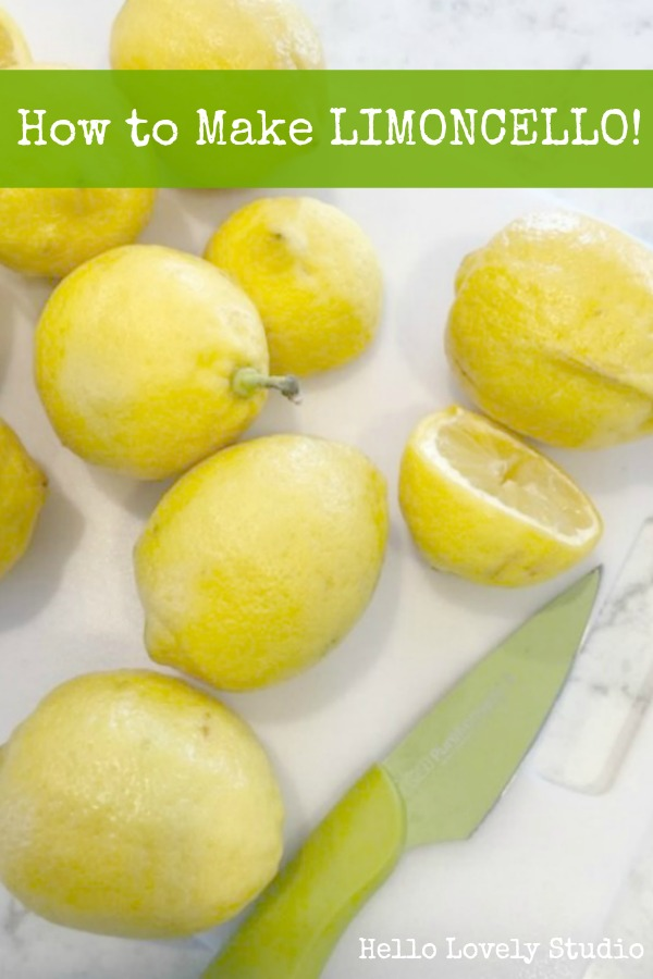 How to make limoncello - photos and easy recipe from Hello Lovely Studio.