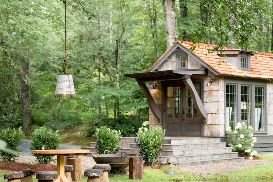 Tiny house design by Jeffrey Dungan, an exquisitely crafted luxurious Low Country style Designer Cottage at The Retreat at Oakstone.