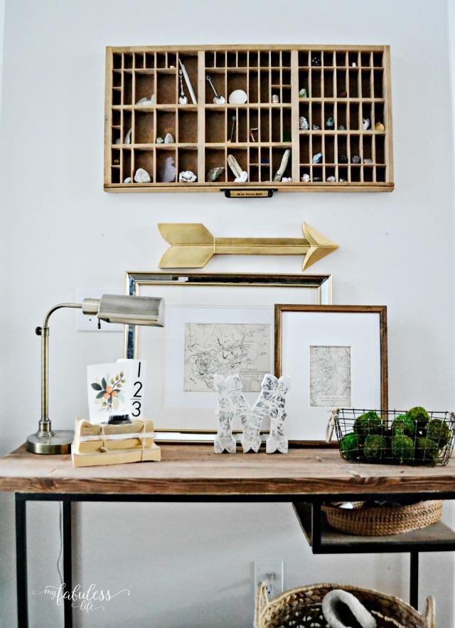 Rustic Ikea hack of Vittsjo laptop table desk by My Fabuless Life.