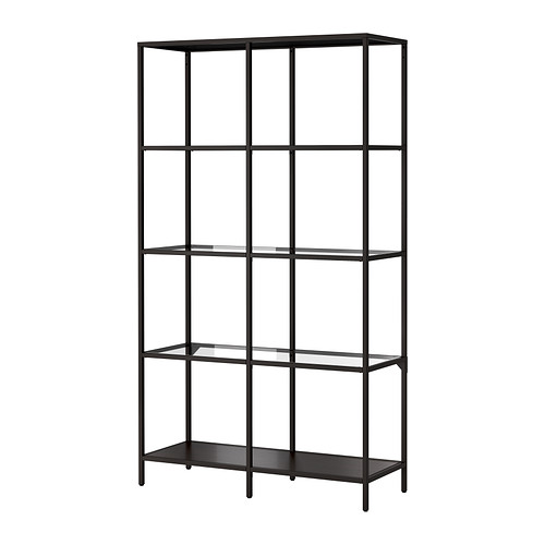 Ikea Vittsjo shelf unit in brown/black