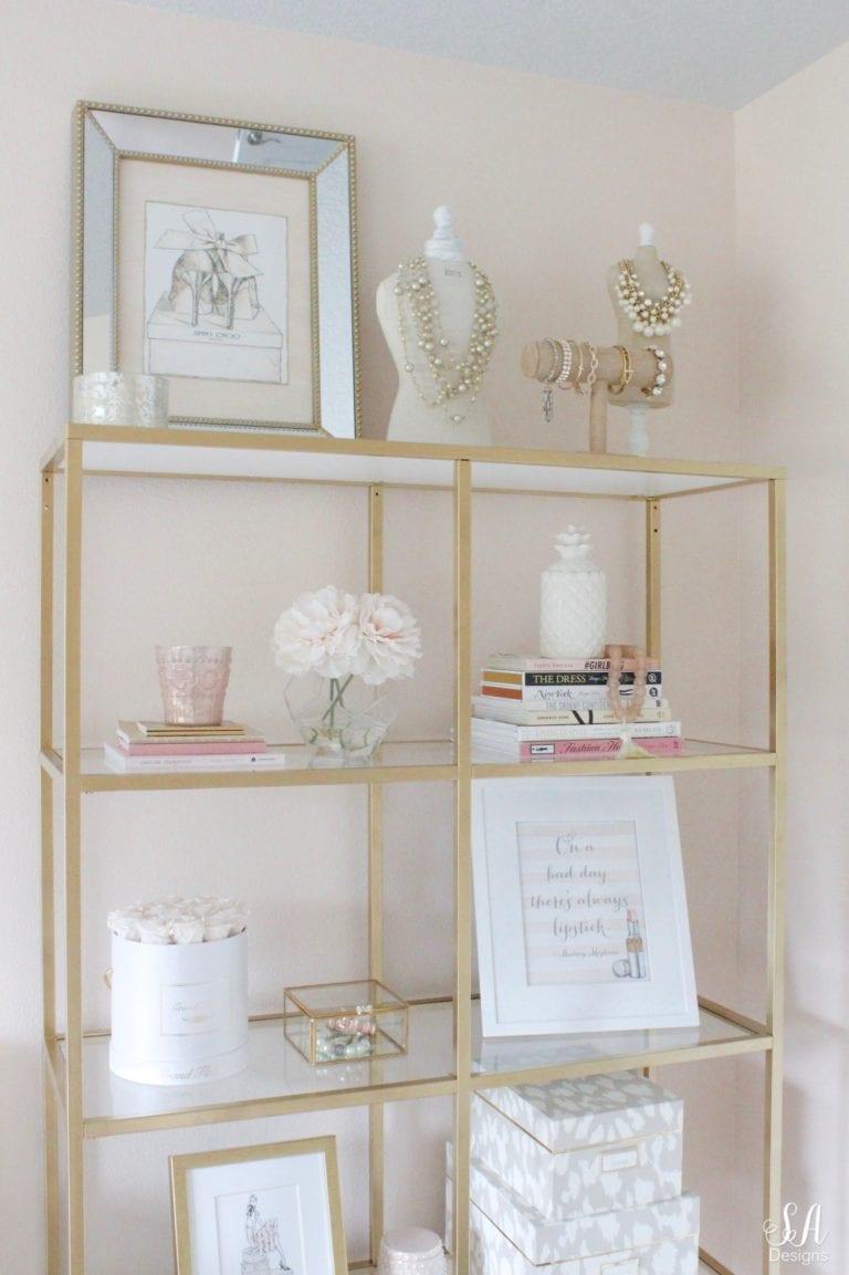 Vittsjo shelving unit from Ikea customized by Summer Adams.