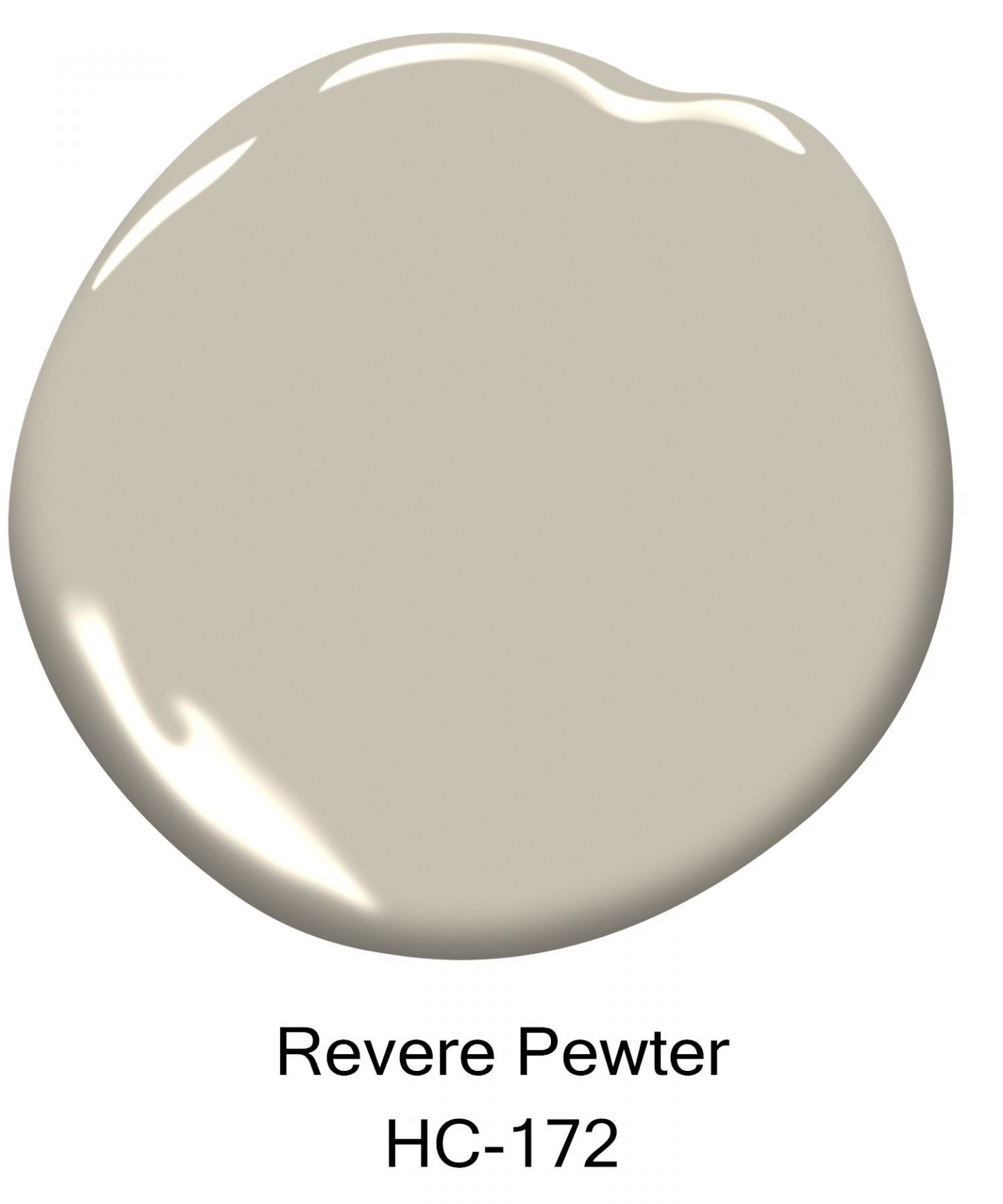 Revere Pewter by Benjamin Moore paint color.