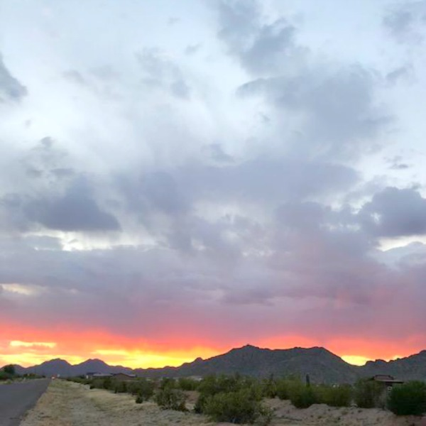 Arizona sunset in Queen Creek - Hello Lovely Studio.