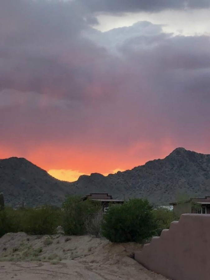 Pink Arizona sunset in Queen Creek - Hello Lovely Studio.