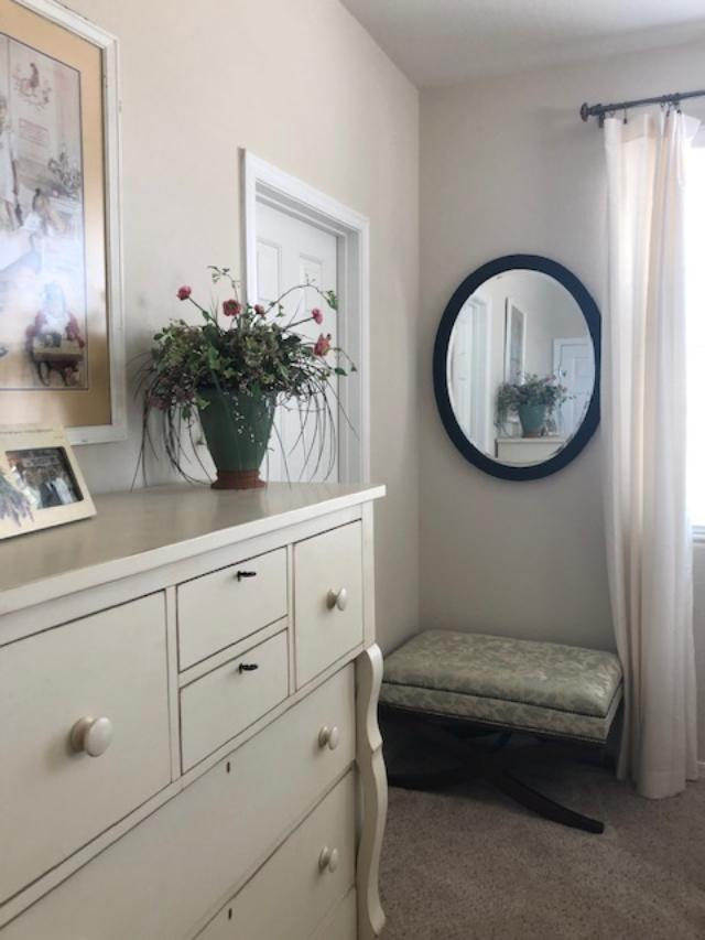 Benjamin Moore White Sand paint color on bedroom walls - Hello Lovely Studio