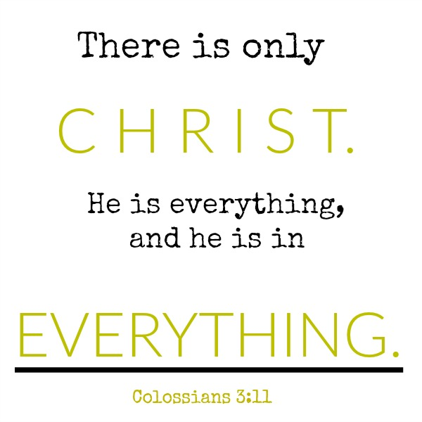 Colossians scripture about Christ - inspirational quote on Hello Lovely Studio.