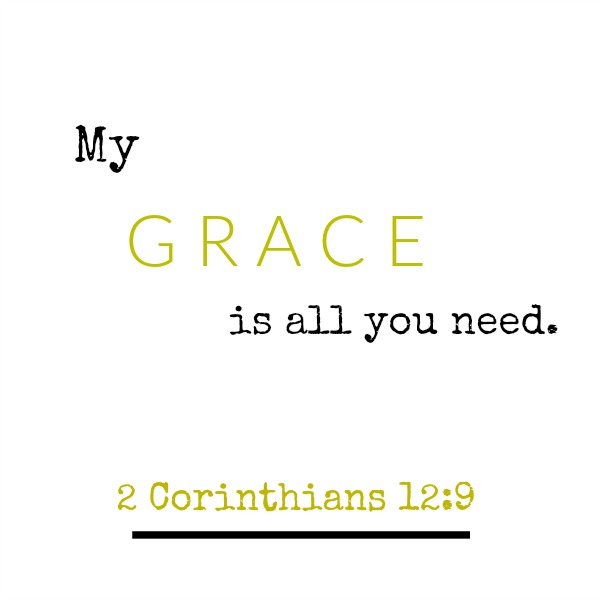 Scripture from 2 Corinthians about grace - inspirational quote on Hello Lovely Studio.